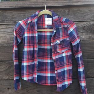 Abercrombie plaid long sleeve shirt